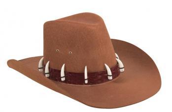 chapeau explorateur avec dents de croco