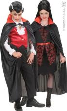 cape satin halloween enfant