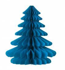 sapin bleu en papier alvéolé