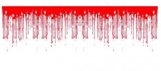 rideau de sang dégoulinant