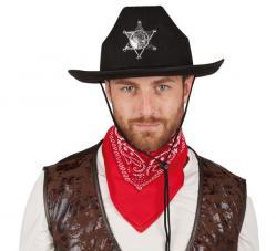 Chapeau Cowboy Shérif Noir