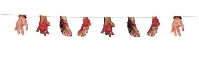 guirlande fanion membres sanglants