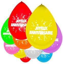 Sachet de ballons gonflables joyeux anniversaire 1er prix