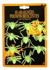 décoration araignées phosphorescentes halloween