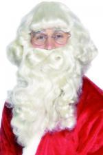 Déguisements Barbe Père Noël Platine Super Luxe
