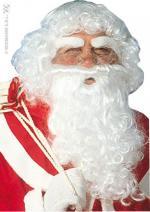 Perruque + barbe + sourcils père noël
