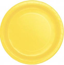 Assiettes ronde Jaune en carton pas cher