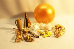 Sachet de cotillons individuel métal or pas cher