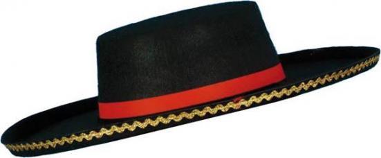 chapeau espagnol noir