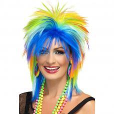 perruque punk femme multicolore