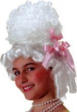 Perruque marquise enfant de couleur blanche