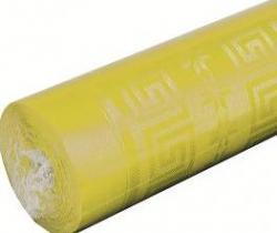 Nappe papier damassé jaune pas cher