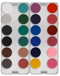 Palette maquillage aquacolor 24 couleurs Kryolan