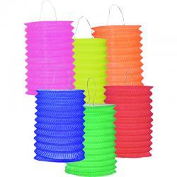 Lot de 12 lampions cylindriques 13cm pas cher