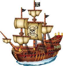 decor bateau pirate carton