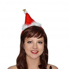 mini bonnet noel avec grelot sur serre tete