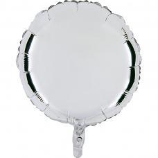 ballon mylar rond argent
