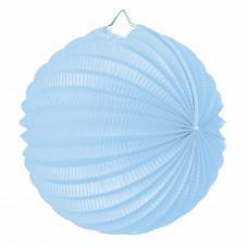 lampion rond bleu tendre