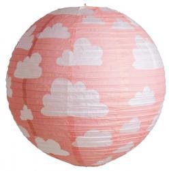Lanterne japonaise rose à nuages pas cher