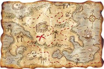 carte au tresor pirate