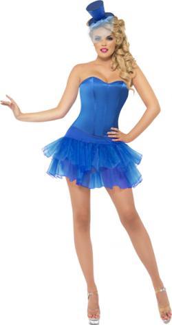 Déguisement Tutu Corset Bleu Femme