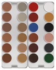 Palette maquillage fard à eau 24 couleurs Kryolan