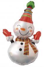 ballon bonhomme de neige bonnet rouge