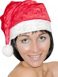 Bonnet de Noël fancy en velours pas cher