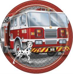 Assiettes anniversaire pompier enfant
