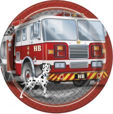 8 assiettes anniversaire pompier