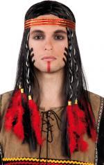 Perruque Bandeau Indien Homme