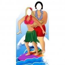 figurine geante passe tete surfeur