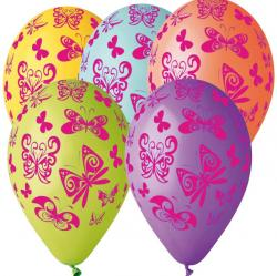 Ballons Papillons Multicolores pas cher