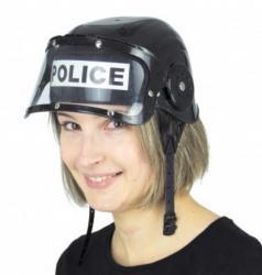 Casque de police adulte avec visière