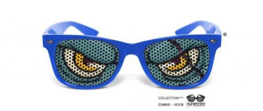 lunettes humoristiques zombie