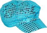 Déguisements Casquette Disco Bleue Pailletée