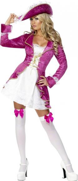 Déguisement Pirate Femme Rose Sexy
