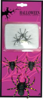Déguisements Toile d'araignée + 6 araignées
