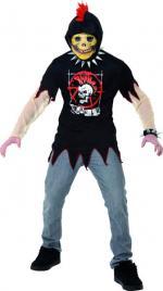 Tunique Squelette Punk