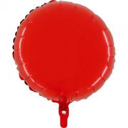 Ballon mylar rond rouge pas cher