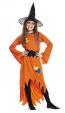 costume sorciere orange