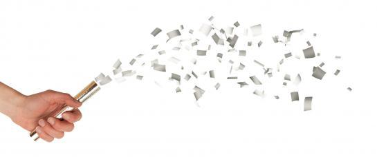 mini canons a confettis argent