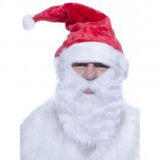 bonnet de pere noel avec barbe