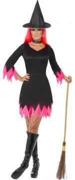 Déguisement Sorcière Halloween Noir et Fuchsia