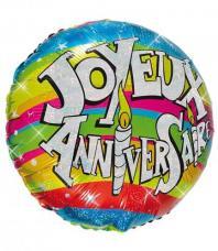 ballon helium joyeux anniversaire