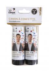 mini canons a confettis multicolores