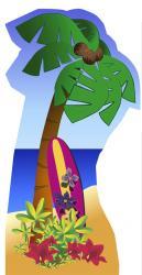 Figurine géante palmier en carton de 190 cm pas cher .