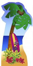 figurine geante palmier en carton