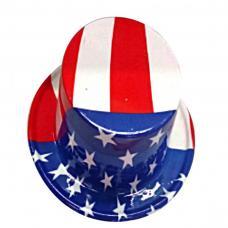 chapeau haut de forme usa en plastique