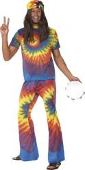 Déguisement Hippie Homme Tie Dye pas cher
